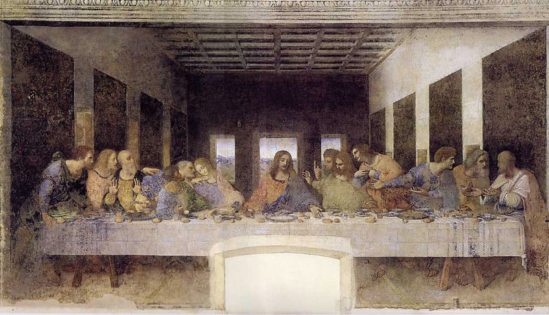 Restoration of the Last Supper 1498 -- Leonardo da Vinci ... Da Vinci Last Supper Restored